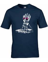 DJ Baby Groot Mixing Deck + Sun Glasses T Shirt
