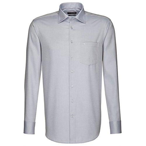 Seidensticker Herren Langarm Hemd Splendesto Regular Fit grau strukturiert 186700.32 Grau