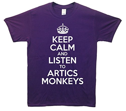 Keep Calm and Listen To Arctic Monkeys T-Shirt - Lila - 5/6 Jahre