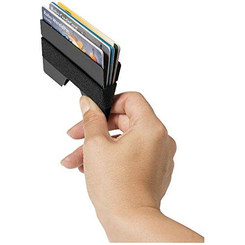 Marksman - Slim Wallet - Kartenhalter, Kartenhülle und Geldklammer schwarz