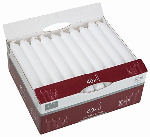 KCB 203-03 Tafelkerzen 40er, weiß