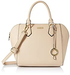Cathy London Womens Handbag, Material- Synthetic Leather, Colour- Beige,