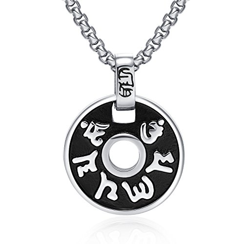 fate-love-stainless-steel-buddhist-meditation-yoga-inspired-tibetan-pendant-necklace-216-inches