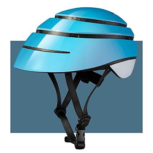 FHGH Fahrradhelm Mopedhelm Roller Helm Einteiliges EPS + PC Elastisches Gummiband Verdeckte BelüFtung Durch Klappbaren Fahrradhelm City Commuter/Mountain Road...