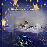 Amouhom Sternenhimmel Projektor Lampe mit Fernbedienung, LED Nachtlicht mit Wiederaufladbare Batterie 360 Drehen und Timing Schlaflicht für Kinders Schlafzimmer Romantische Geschenke für Frauen(Grün) - 2
