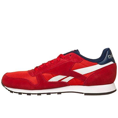 Reebok Classic Sport Clean, Chaussures de Running Entrainement Homme, Gris/Blanc Rouge / blanc / bleu / gris (rouge puissant / rouge moteur / blanc / bleu marine collégial / gris mat (flat grey))