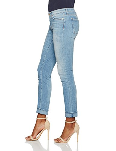 7 For All Mankind Damen Slim Jeans Pyper Blau (Mid Blue 0LB)