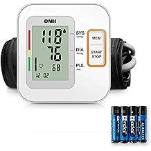 Tensiómetro Brazo, Monitor de Presión Arterial OMK Brazo Superior Con Brazalete Que se Ajusta a