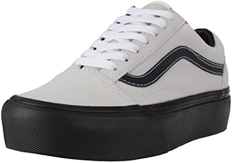 Vans Shoes UA Old Skool Platform Shoes   Blanc De Blanc/~Black
