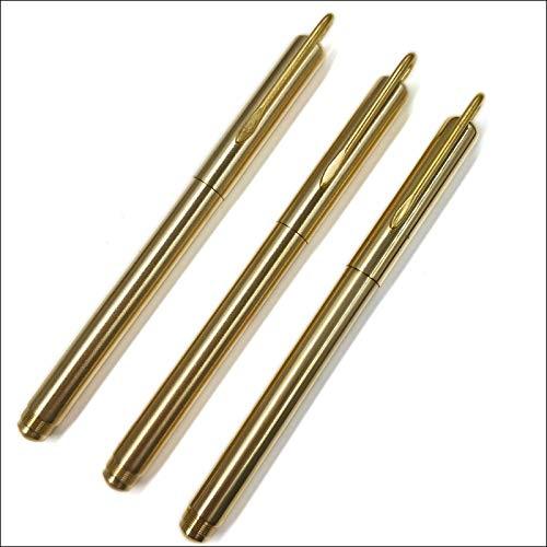 DYHDYZB Kugelschreiber Minimalismus Superfein Kugelschreiber Reiner Messing Schreibwaren Kupfer Kugelschreiber Schreiben Büro geschenk, 10 STÜCKE