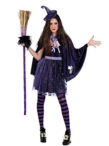Mascarada MA680 Gr. L - Regenbogenhexe Kostüm, Größe L, lila