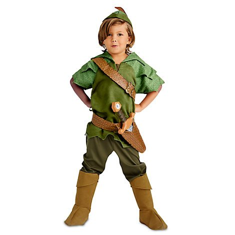 Girl Kostüm Pan Peter - Authentisch, Original-Disney store Peter Pan Kostüm für Kinder - Enthält Tunika, Hose, Hut und Wildlederstiefel - Größe 4 Jahre