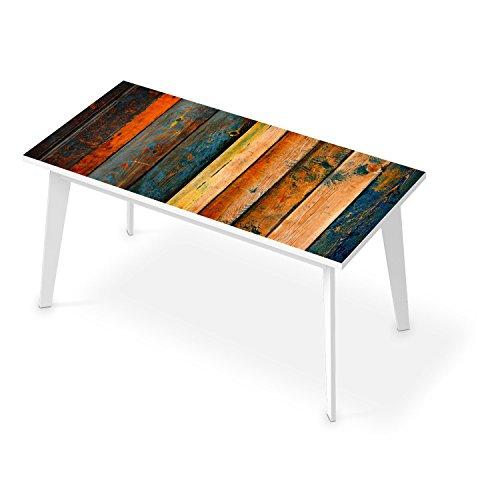 creatisto Sticker für Tisch 150x75 cm | Bedruckte Klebe-Folie Modernes Wohnen Tischfolie | Muster Ornament Wooden