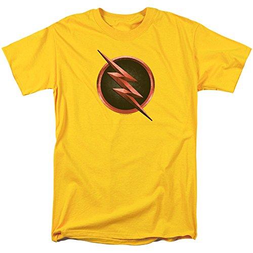 Flash - - Reverse Logo T-Shirt für Männer, XXXX-Large, Yellow