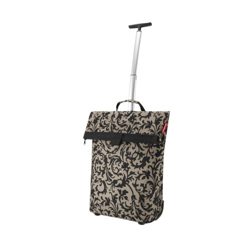 Reisenthel Trolley M, Shopping Bag, Shopping Basket on Castors, baroque taupe, NT7027 baroque sand