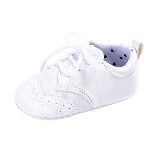 Saingace Baby Säugling scherzt Mädchen Jungen weiche alleinige Krippe Kleinkind Neugeborene Schuhe Weiß