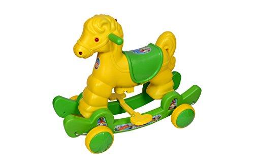 Funride Murphy Horse 2-in-1 Rocker cum Ride-on for Kids - GREEN