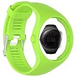 TUSITA Strap + Protector de Pantalla para Polar M200, Pulsera de silicona de repuesto WristBand Accesorio para Polar GPS Watch (VERDE)