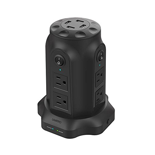 8-outlet Strip (PowerCastle 8 Outlet + 4 USB 6.8A Pure Black 8 Outlet + 4 USB)