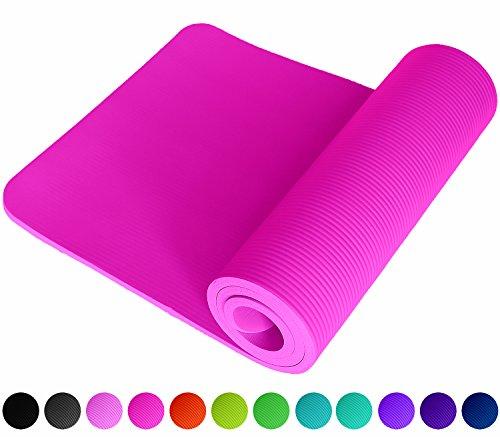 ReFit Fitnessmatte in Pink Rosa | 1.5 cm | Rutschfest | gelenkschonend | EXTRA dick und weich | Maße 183 cm x 61 cm x 1.5 cm | mit praktischem Trageband |