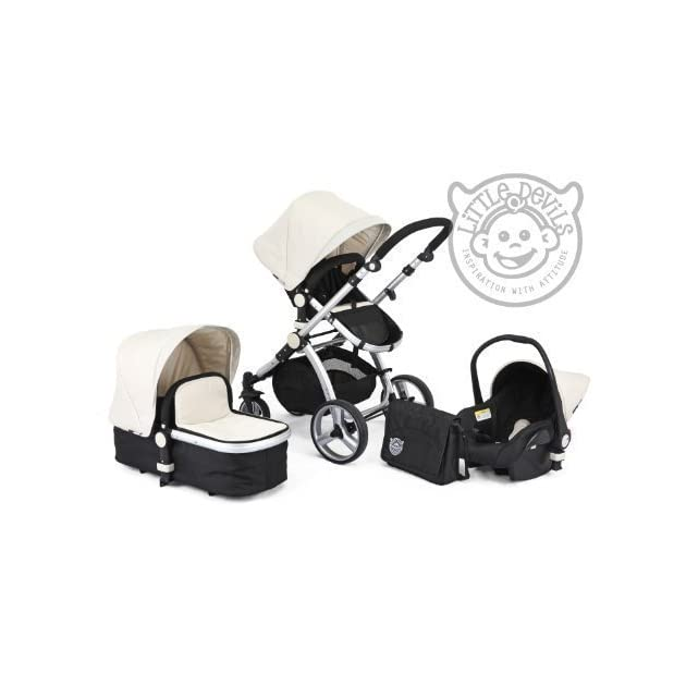 BLACK & WHITE CARRERA SPORT 3-in-1 Baby Travel System/Pushchair/Pram/Buggy/Stroller