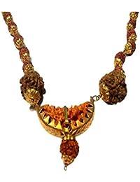 Eshopee Original Nepali 1 Mukhi Rudraksh Mala Gold Plated