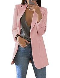 fa7385c8cbb6b Dihope, Blazer Slim Fit Costume Basique pour Femme Veste de Tailleur  Costume Slim OL Manches