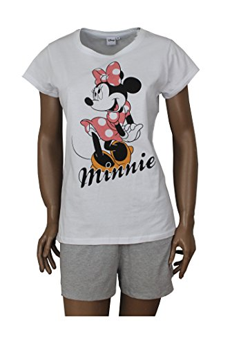 Schlafanzug Damen Minnie Mouse Shorty Set (XL) (Kostüm Minnie Maus Damen)