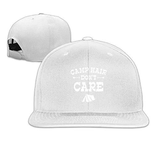 VTXINS Camp Hair Don't Care Happy Glamper Adjustable Flat Bill Visor Baseball Cap - Nc-flat