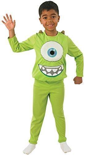 Fancy Me Jungen Monsters Ag Deluxe Mike Grün Monster Halloween Büchertag Woche Kostüm Kleid Outfit 3-8 Jahre - Grün, 3-4 Years