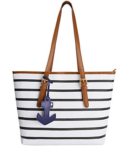 Strandtaschen Damen,Coofit Handtaschen Designer Shopper Tasche Schultertasche Geldbörse Für Frauen (Gurt-reißverschluss-frauen-handtaschen)