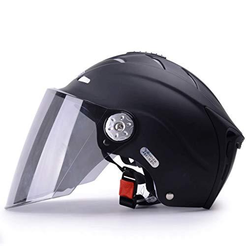 ZXW Sommerhelm Sonnencreme UV-Schutz Leichtes ABS-Material Multicolor (Farbe : Matte schwarze, größe : 27x19.5cm)