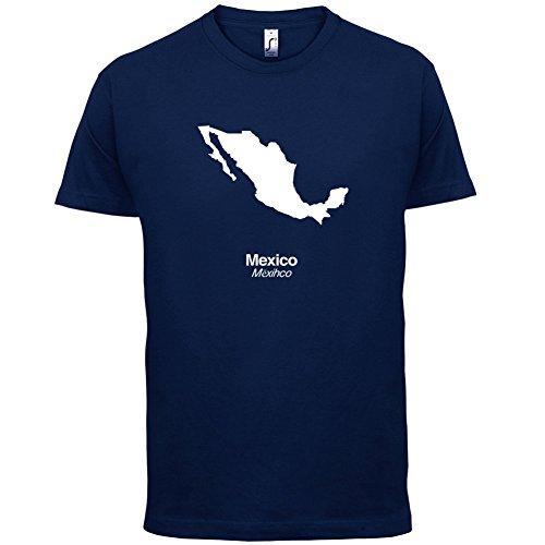 Mexico / Mexiko Silhouette - Herren T-Shirt - 13 Farben Navy