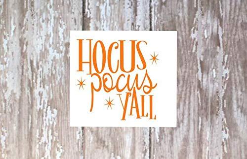 Celycasy Hokus-Pokus-Aufkleber, Halloween-Aufkleber, Halloween-Aufkleber, Halloween-Dekoration, lustiger Halloween-Aufkleber