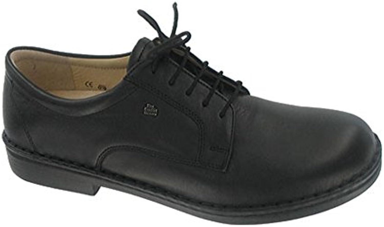 Finn Comfort Milano - Zapatos Planos con Cordones Hombre, Negro (Black), 43 EU