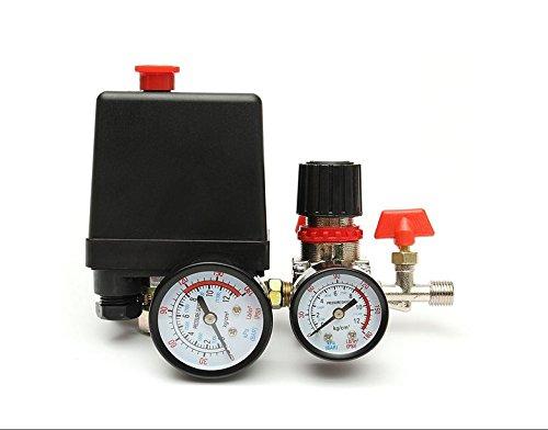 PANGUN 125Psi Luftkompressor Druckventil Schaltersteuerung Verteiler Regler Manometer