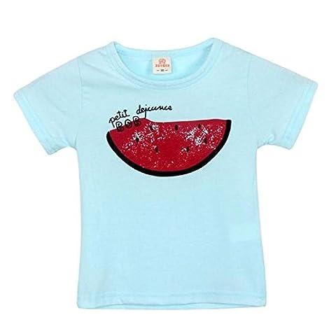 FEITONG Motif Enfants Filles Garçons Watermelon Fruit T-Shirt Casual Top