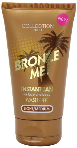Collection 2000 Bronze Me! Instant Wash Off Tan For Face And Body 60ml-Light/Medium