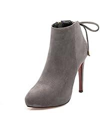 MEI&S La mujer señaló Scrub Toe Botines Stiletto zapatos con plataforma