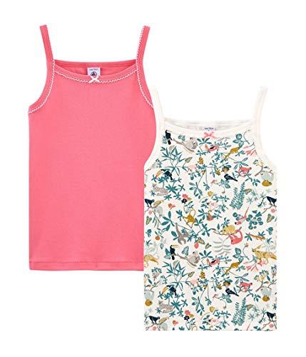 Petit Bateau Chemise à Bretelles_4799400 Camiseta de Tirantes, Multicolor (Variante 1 00), 12 años (Pack de 2 para Niñas