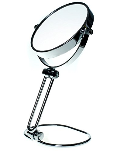 TUKA Kosmetikspiegel 10 fach Vergrößerung Faltbar, 5 inch Tischspiegel Doppelseitig, Drehbar...