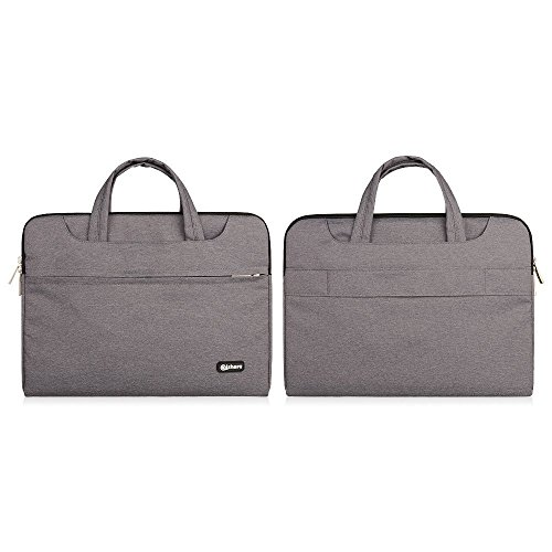 Qishare multifonctionnel portatif mince ordinateur portable sac à bandoulière porte-documents ordinateur portable mallette de poche ultrabook netbook ...