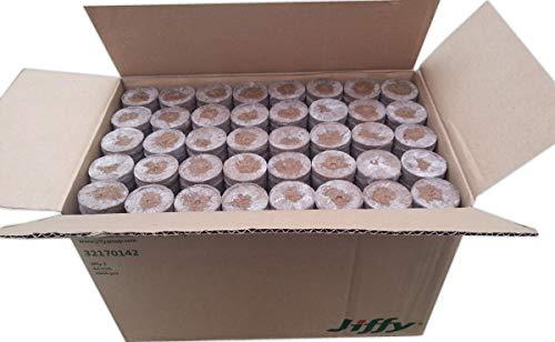 GREEN24 100 St. Jiffy Original Quell-Tabletten Torf-Quelltöpfe 44mm Aussaaterde Anzuchterde Torftablette mit Anleitung - 6