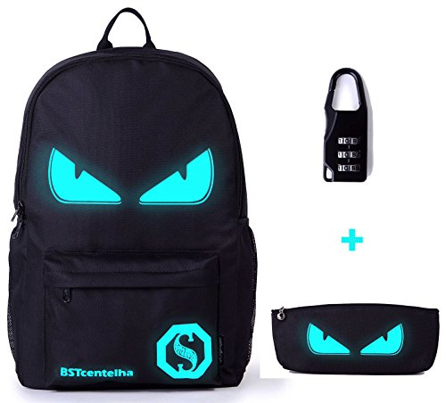 Bstcentelha anime borsa a tracolla luminosa leggera con scomparti per laptop per studenti ragazzi boy girl book laptop travel camping (medio)