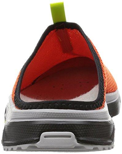 Salomon Herren Rx Slide 3.0 Geschlossene Sandalen Orange (Tomato Red/Black/Gecko Green)