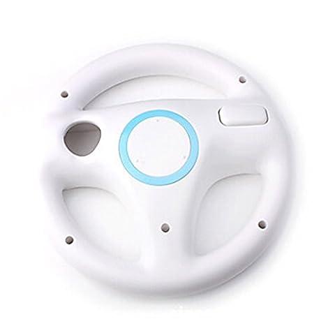 Saflyse Lenkrad Lenkräder Racing Wheel SET für Nintendo Wii (weiss) (Wii Wheel)