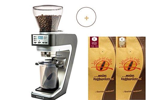 Baratza Sette 270 Kaffee-/Espressomühle grau/schwarz mit 2 * 500 gr. Spitzenkaffee/Espresso von Mondo del Caffè