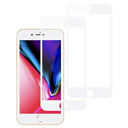 Preisvergleich Produktbild Haeylos iPhone 8 / 7 Panzerglas Schutzfolie (2 Stück),  9H Ultra-Transparent 3D Vollständigen Abdeckung Panzerglasfolie,  Anti-Kratzen,  Anti-Bläschen,  Perfekter Schutz für iPhone 8 / 7
