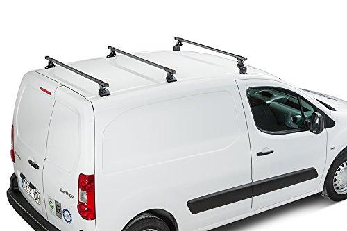 Cruz Baca para Cargas Pesadas Peugeot (2008-actualidad), Sistema de 3 Barras de Acero, 76,2 x 50,8 cm