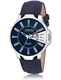 Analogue White & Blue Colour Dial And Leather Belt Stylist New Design Wrist Analogue Watch Made In India